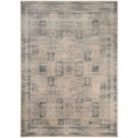 Safavieh Vintage Tile 8-Foot 10-Inch x 12-Foot 2-Inch Area Rug in Stone/Blue