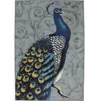 Mohawk® Peacock Feathers 7-Foot 6-Inch x 10-Foot Multicolor Area Rug