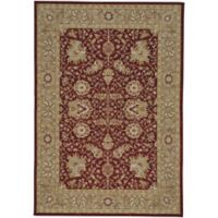 Capel Rugs Centennial Floret 3-Foot 6-Inch x 5-Foot 6-Inch Area Rug in Brick