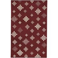 Capel Rugs COCOCOZY Geneva 8-Foot x 10-Foot Area Rug in Crimson/Beige