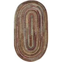 Capel Rugs Habitat Braided 1-Foot 8-Inch x 2-Foot 6-Inch Oval Accent Rug in Deep Red