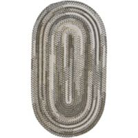 Capel Rugs Habitat Braided 1-Foot 8-Inch x 2-Foot 6-Inch Oval Accent Rug in Grey