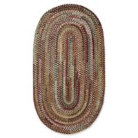 Capel Rugs Habitat Braided 2-Foot 3-Inch x 4-Foot Oval Accent Rug in Deep Red