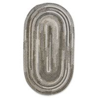 Capel Rugs Habitat Braided 2-Foot 3-Inch x 4-Foot Oval Accent Rug in Grey