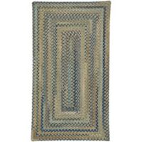 Capel Rugs Tooele Braided 1-Foot 8-Inch x 2-Foot 6-Inch Accent Rug in Green