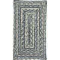 Capel Rugs Tooele Braided 1-Foot 8-Inch x 2-Foot 6-Inch Accent Rug in Blue Jean