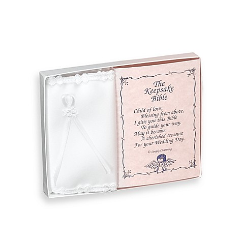 Simply Charming Baby Keepsake Bible with Delicate Trim