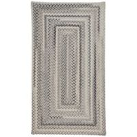 Capel Rugs Tooele Braided 3-Foot x 5-Foot Area Rug in Grey