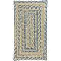 Capel Rugs Tooele Braided 4-Foot x 6-Foot Area Rug in Light Tan