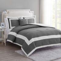 VCNY Home Avondale King Duvet Cover Set in Grey