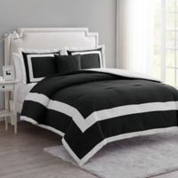 VCNY Home Avondale King Duvet Cover Set in Black