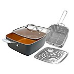 "Gotham™ Steel Nonstick 11"" 4-Piece Deep Square Pan Set"