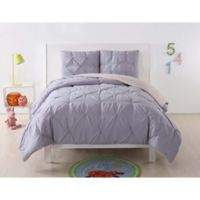My World Pleated Full/Queen Comforter Set in Lavender/Blush