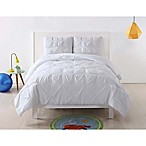 Laura Hart Kids Pleated Twin XL Duvet Cover Set in White