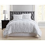 Truly Soft Pleated Twin XL Duvet Cover Set in White