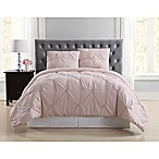 Truly Soft Pleated Twin XL Comforter Set in Blush