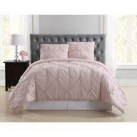 Truly Soft Pleated Twin XL Duvet Cover Set in Blush