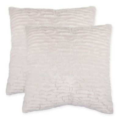pillow black case diy ivory faux covers ruched cover fur