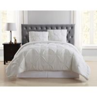 Truly Soft Pleated Full/Queen Duvet Cover Set in Ivory