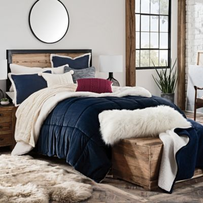 king set buy bath hudson ugg in reversible comforter navy piece from beyond bed and