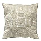 Artisan Lace Square Throw Pillow in Ivory