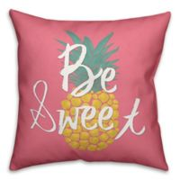 """Designs Direct """"Be Sweet"""" Square Throw Pillow in Pink/Yellow"""
