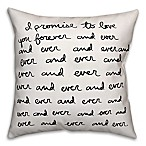 Designs Direct Forever and Ever Throw Pillow in Black/White