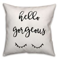 "Designs Direct ""Hello Gorgeous"" Throw Pillow in Black/White"