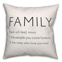 Designs Direct Family Definition Throw Pillow in Black/White