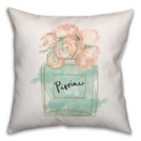 Designs Direct Glam Perfume Bottle Pillow Throw in Teal/Pink