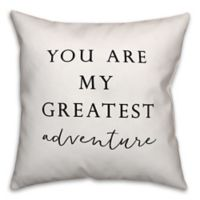 Designs Direct Greatest Adventure Square Throw Pillow in Black/White