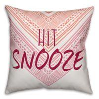 "Designs Direct ""Hit Snooze"" Throw Pillow in Orange/Pink"