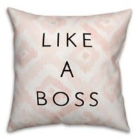 "Designs Direct ""Like A Boss"" Throw Pillow in Pink/White/Black"