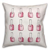 Designs Direct Glam Nail Polish Throw Pillow in Pink/White/Black