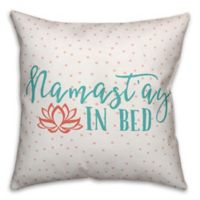 "Designs Direct ""Namastay in Bed"" Square Throw Pillow in Coral/Teal"