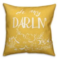 """Designs Direct """"Oh My Darlin"""" Pillow in Yellow/White"""