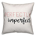 Designs Direct Perfectly Imperfect Square Throw Pillow in Pink/White/Black