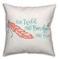 Designs Direct Run Wild Square Throw Pillow in Coral/Teal