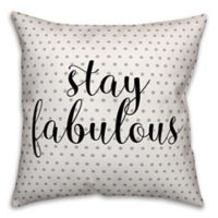 Designs Direct Stay Fab Square Throw Pillow in Black/Grey