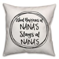 Designs Direct Nana's House Square Throw Pillow