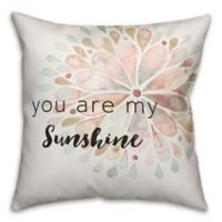Designs Direct Sunshine Square Throw Pillow in Green/Pink/White