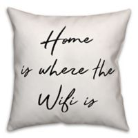 "Designs Direct ""Home Is Where The Heart Is"" Throw Pillow in Black/White"