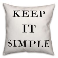 "Designs Direct ""Keep It Simple"" Throw Pillow in Black/White"