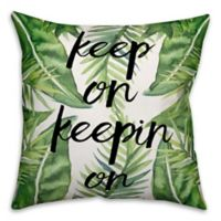 """Designs Direct """"Keep On Keepin On"""" Throw Pillow in Green/Black"""