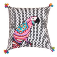 Thro by Mario Lorenz Iago Parrot Embroidered Throw Pillow