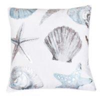 Thro by Mario Lorenz Lima Shell Throw Pillow in Blue/Silver