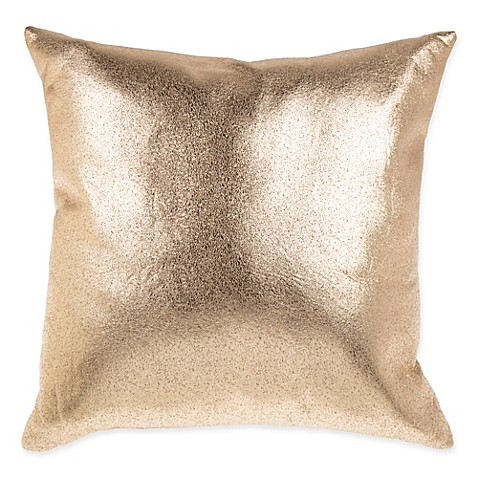 Gold Foil Decorative Pillow : Metallic Foil Square Throw Pillow in Gold - Bed Bath & Beyond