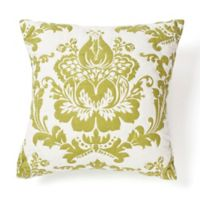 Amity Home Damask Square Throw Pillow in Green