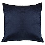 Strie Velvet Square Throw Pillow in Navy