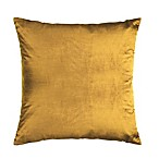 Strie Velvet Square Throw Pillow in Chartreuse